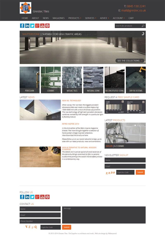 Tile Web Design : Tile Company E-Commerce Website Design Kent