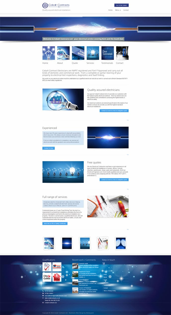 Electrician web design in Maidstone Kent - Electrical Website Design Kent