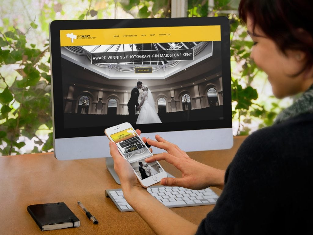 Photographer web design in Maidstone Kent