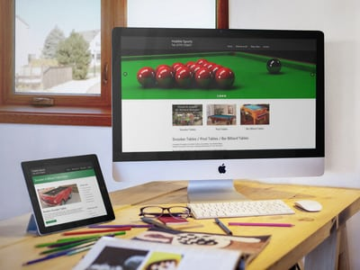 Snooker Table Web Design