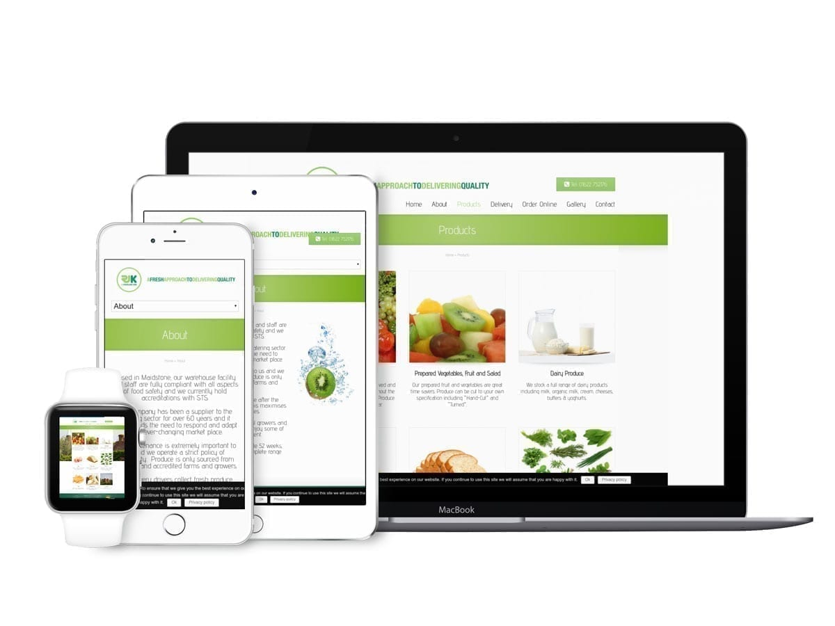 Fruit & Veg Wholesaler Website Design in Maidstone Kent