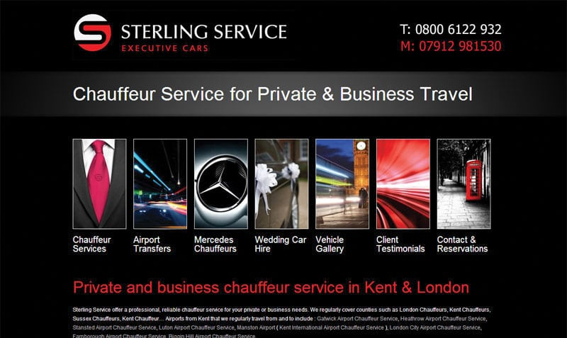 Chauffeur Web Design From Webexpand Chauffeur Website Design Experts