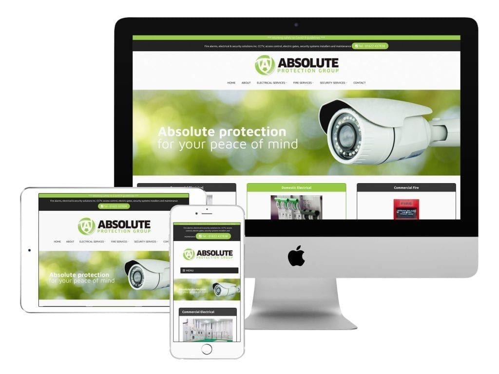 Absolute Protection Group Ltd Website Design in Maidstone Kent