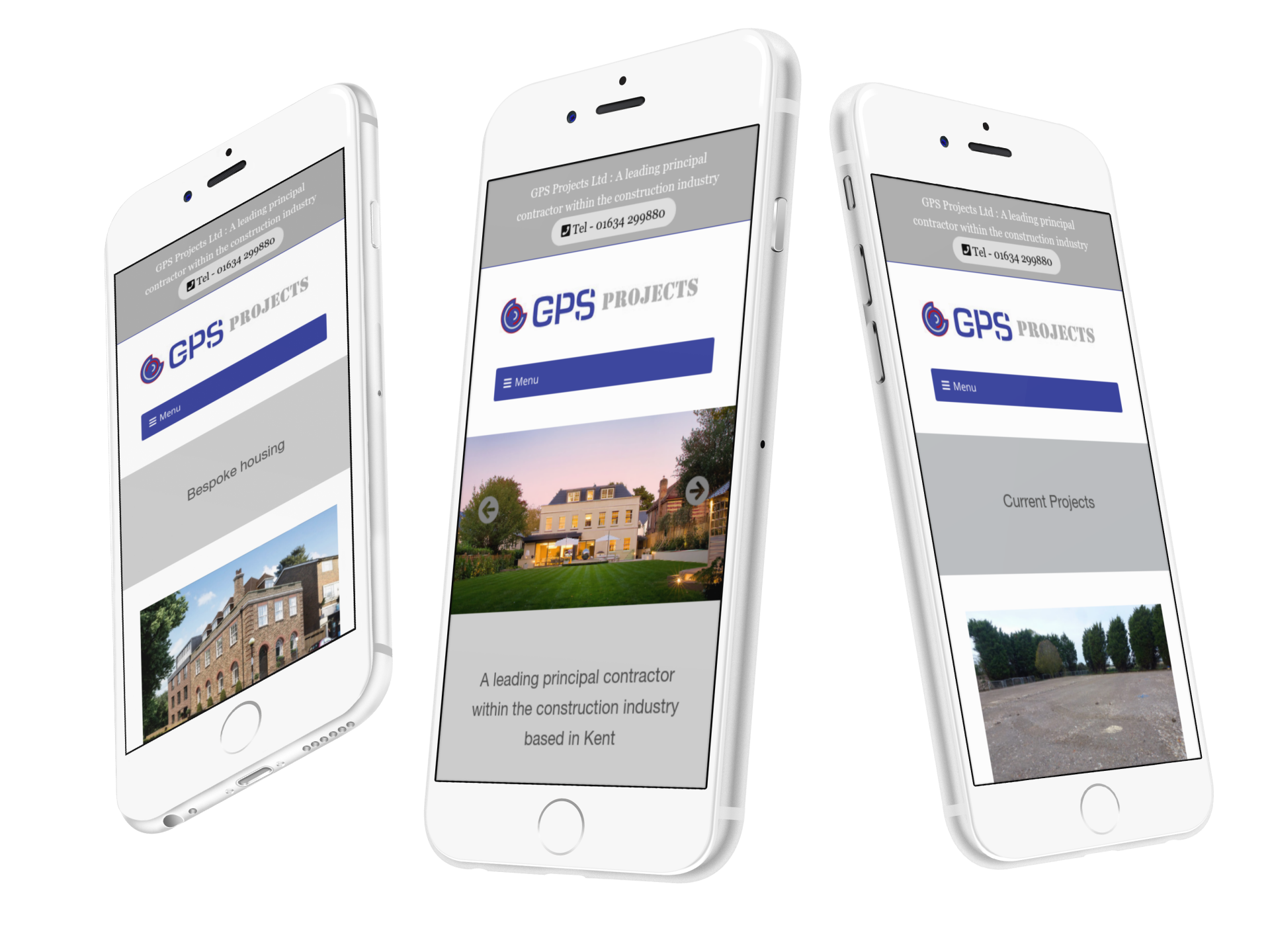 GPS Projects Ltd new website design