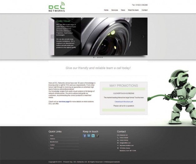 IT web design, Electricians website design